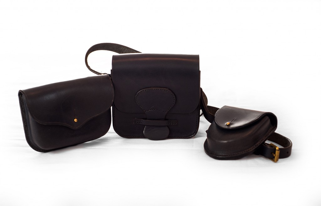 The Burley  mini shoulder bag and belt pouches (blue)
